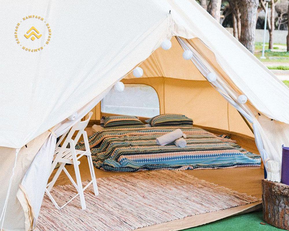Alquiler de tiendas de campaña en Campings Kampaoh modelo Bell