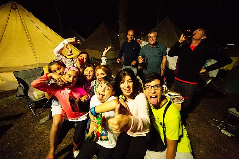 Escapadas de camping con niños en familia