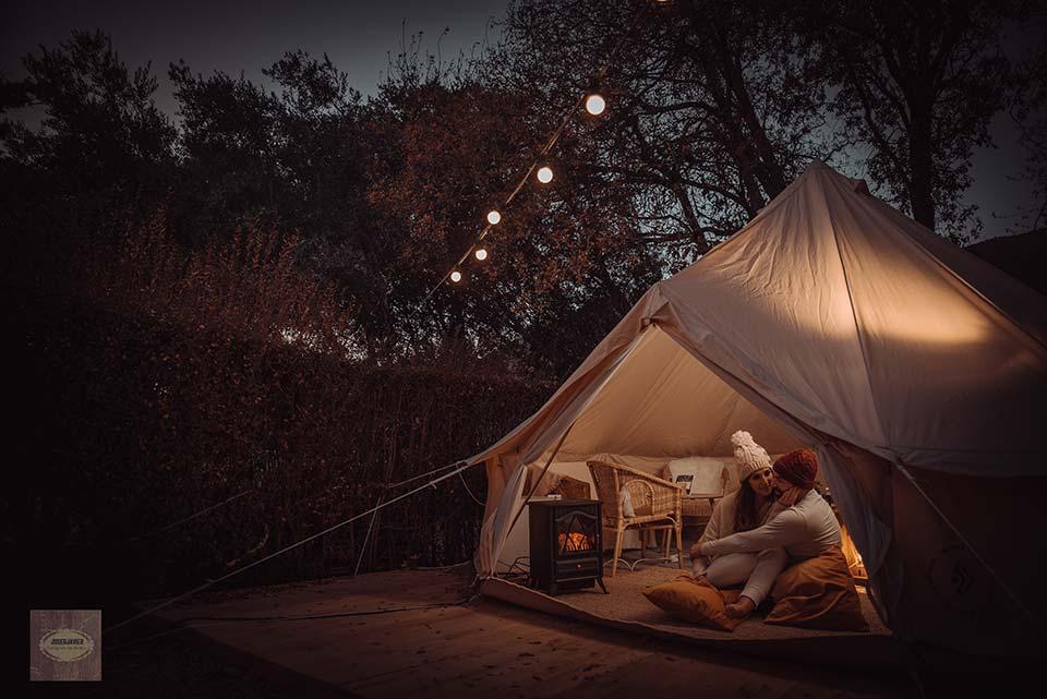 Campings en invierno en Sierra Nevada