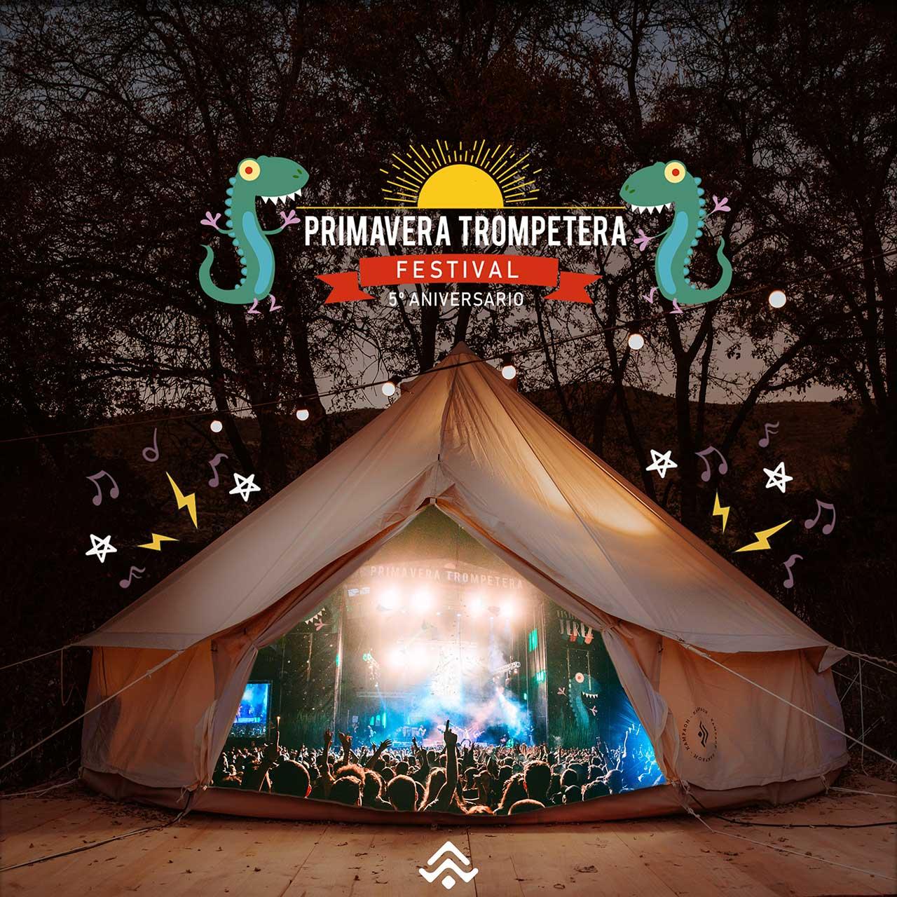 Acampada en el Primavera Trompetera Festival 2019