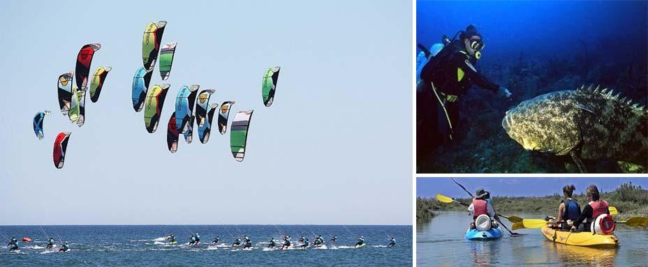 Actividades y deportes acuáticos cerca del camping de Isla Cristina