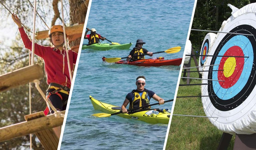 Pack multiaventura, tiro con arco y kayak en Isla Cristina