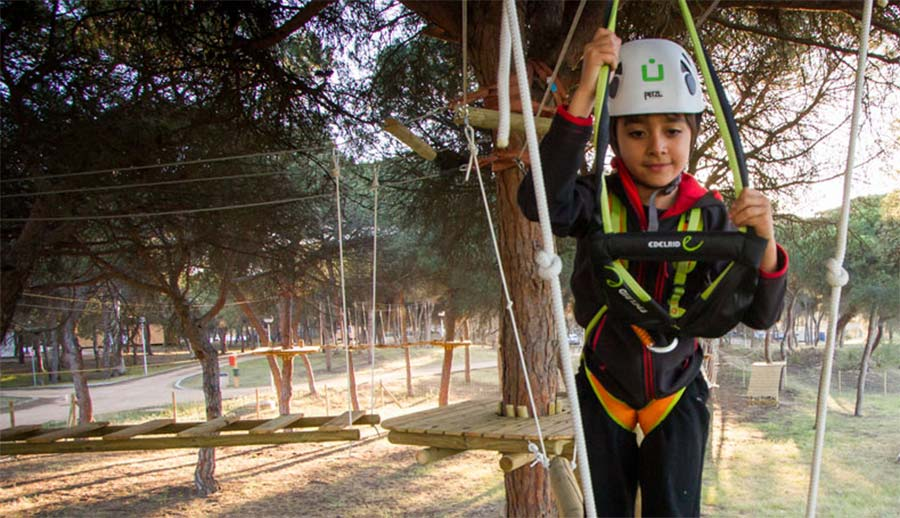 Campings con multiaventura, actividades y deportes
