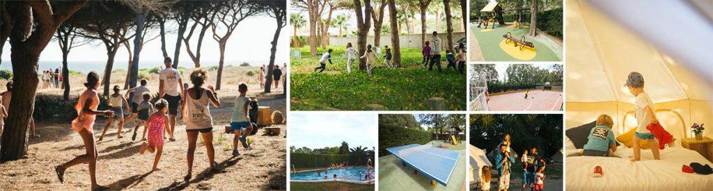 Campings con actividades para niños y adultos