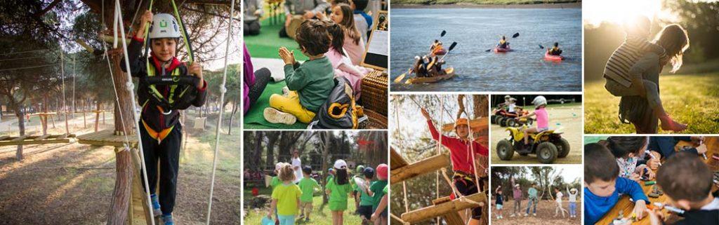 Parques multiaventura y actividades en Campings