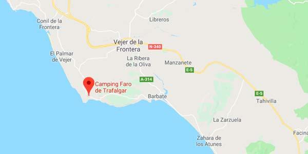 Mapa de localización de Kampaoh Trafalgar