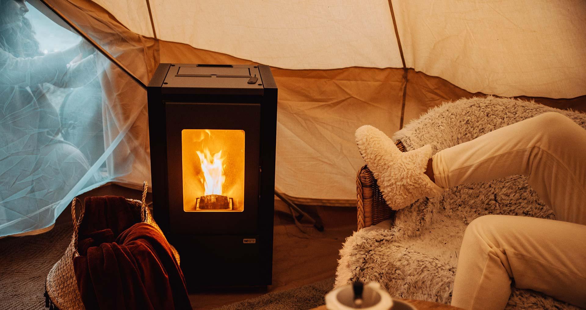Campings de otoño-invierno-primavera con chimenea