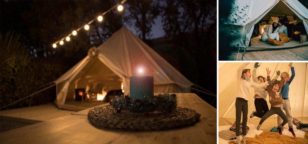 Campings en invierno y navidades