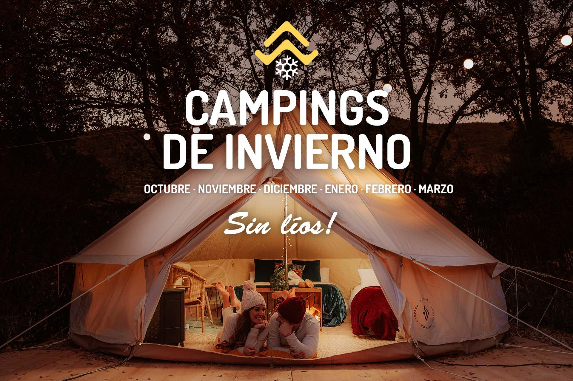 Campings para invierno con tiendas de campaña montadas todo incluido