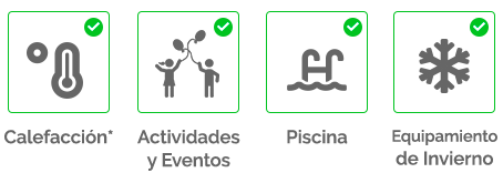 Servicios incluidos en Kampaoh Córdoba