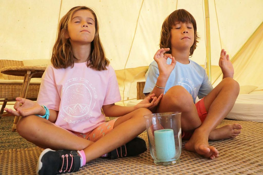 Ir de camping con niños