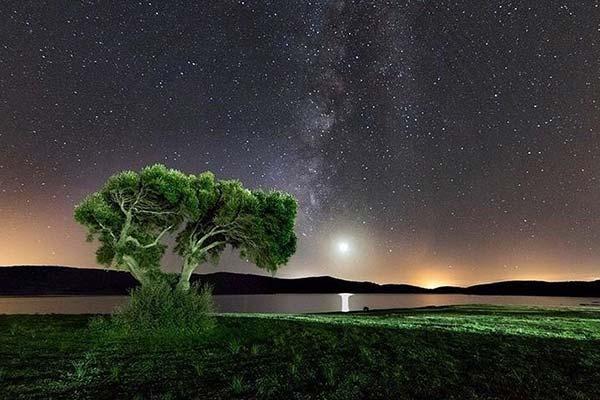 Noche y estrellas en el camping Wakana de Benalup-Casas Viejas