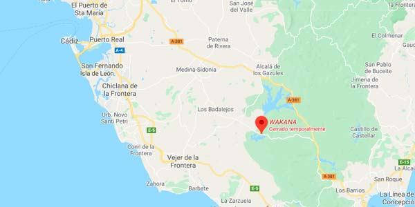 Wakana en el mapa