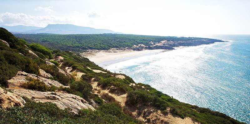 Acampada en las playas de Cádiz