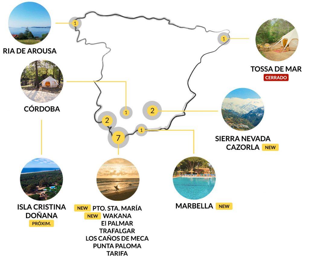 Campings en España con Kampaoh