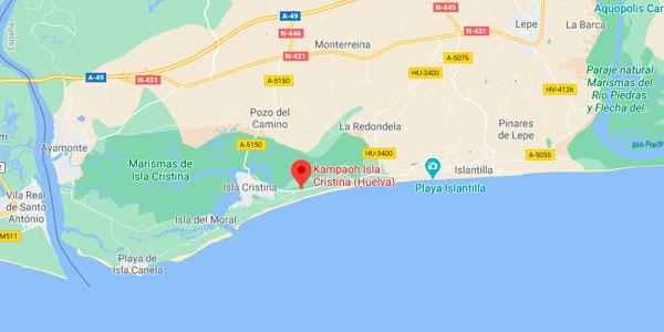 Cómo llegar a Kampaoh Isla Cristina - Camping Giralda