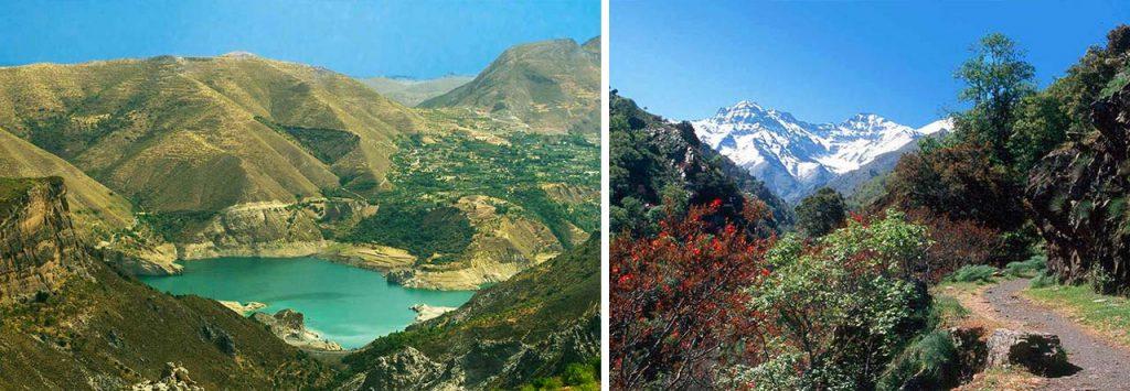 Rutas y pantanos en Sierra Nevada