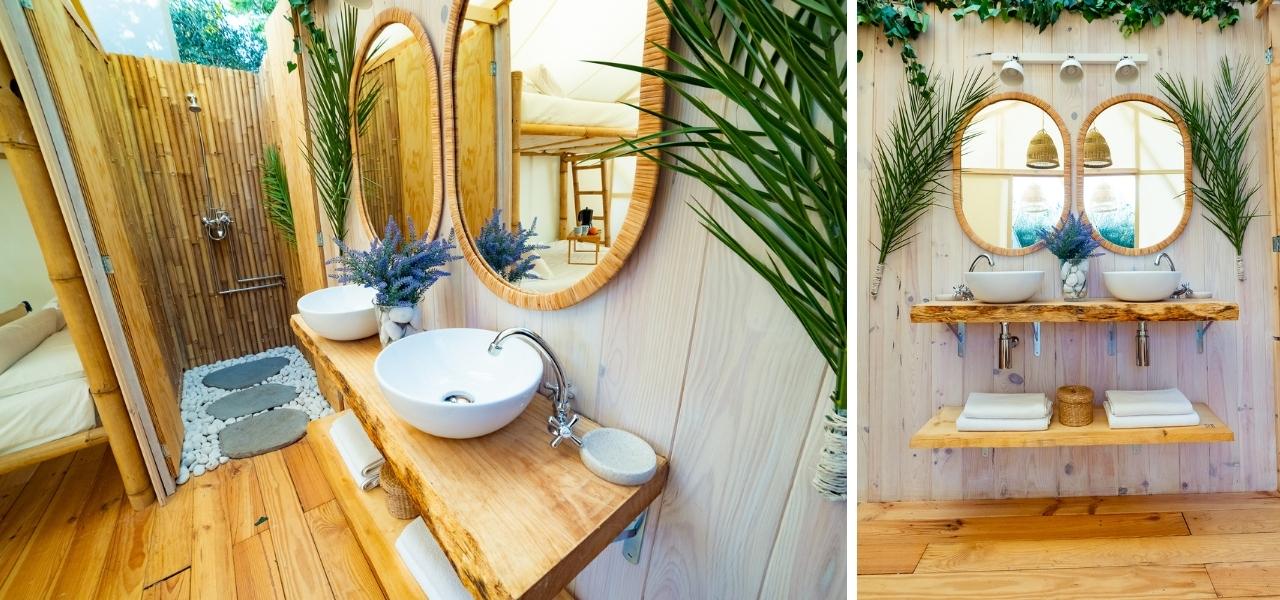 glamping con baño privado